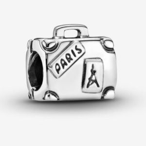 PANDORA SS Adventure Suitcase Charm, NWT